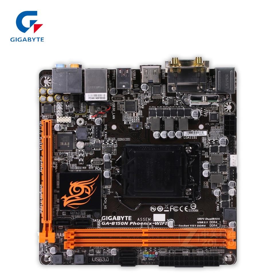 Gigabyte GA-B150N Phoenix-WIFI Original New Desktop Motherboard B150N Phoenix-WIFI B150 LGA 1151 i3 i5 i7 цена и фото