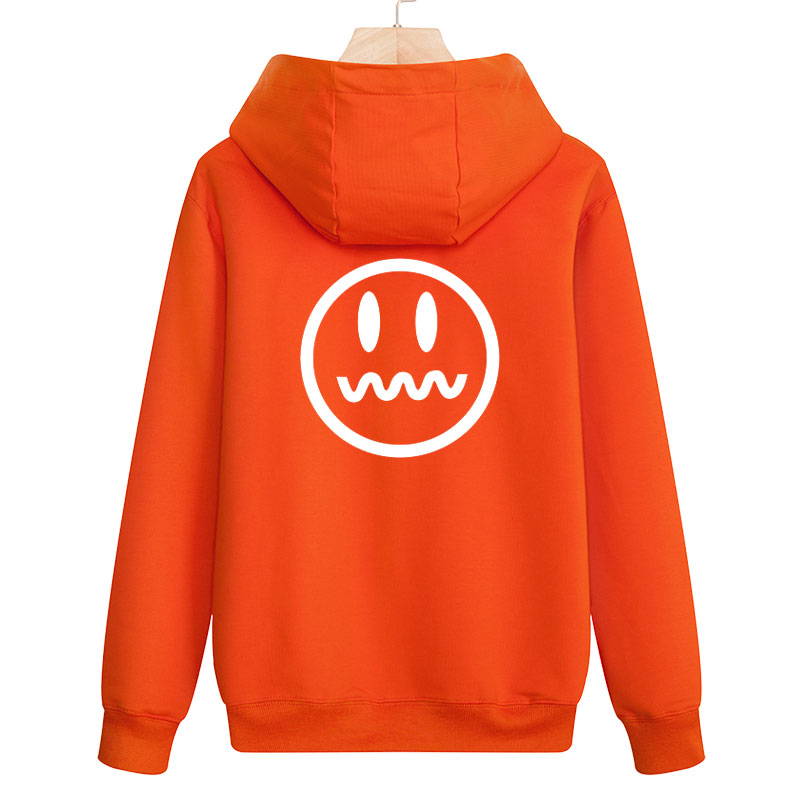 Hoodies Sweatshirts Smiling face Cotton Hat MOOWNUC MWC Casual Pure colour Fashion Cardigan Spring Printed Hip Hop Men Youth
