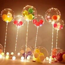 Led balon standı sütun ışık şeffaf Bobo balonlar standı LED dize ışıkları noel düğün doğum günü partisi süslemeleri