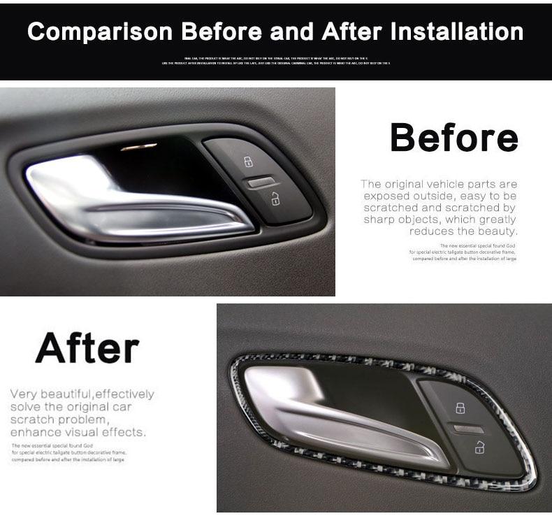 3 Color For Jeep Wrangler 11-17 4-Door Inner Door Handle Bowl Cover Frame Decor