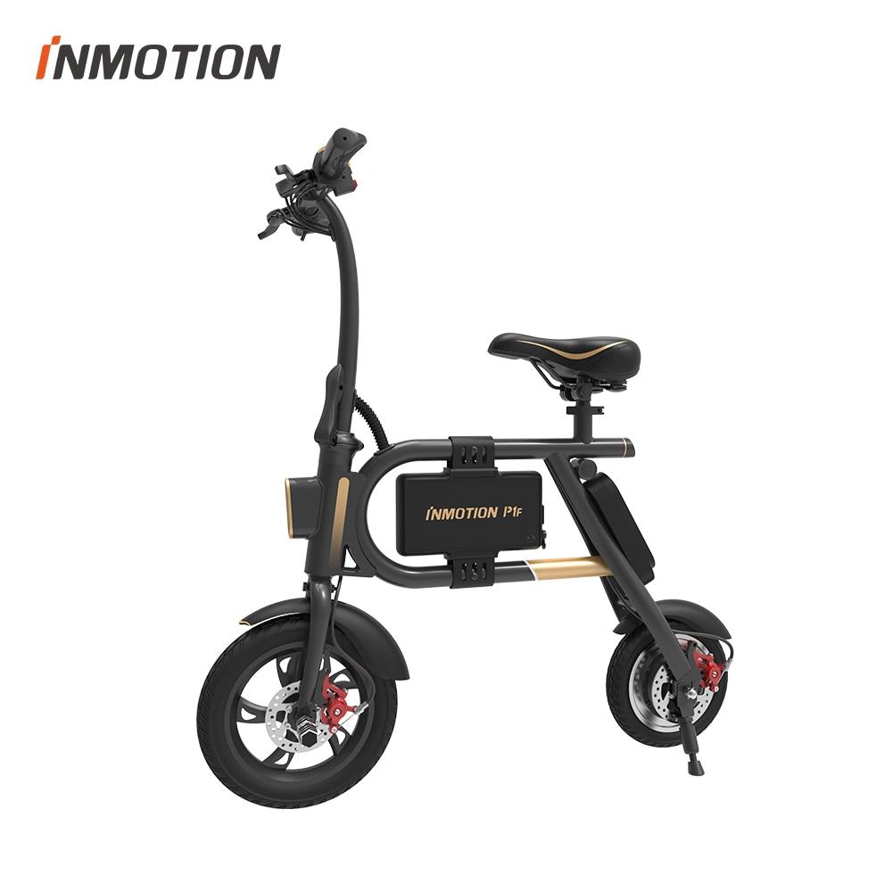 INMOTION E BIKE P1F складной электрический скутер мини стиль IP54 приложение поддерживается 30 км/ч Электронный велосипед