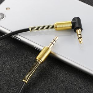Car Aux Audio Cable 3.5mm Jack Male to Male HIFI Universal Stereo Audio Cable with 90 Degree Angle(China)