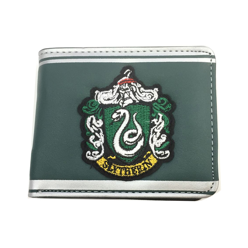 New Harry Potter Embroidery Leather Wallets for Young Students Gifts Purse Portable Card Holder Coin Pocket Dollar Short Wallet new designs harry potter print purse dollar price anime wallet leather card holder bags gift men women zipper short wallets