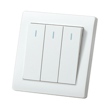 MVAVA 3 Gang 1 Way Light Switches Push Button Lamp Wall Switch 16A 250V Luxury White Panel Factory Direct Sale Free Shipping