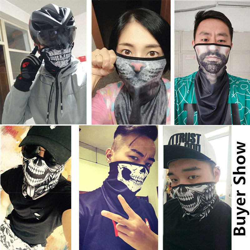 Motorcycle Face Shield Breathable Outdoor Cycling Scarf Face Mask Multifunctional Moto Half Mask Quick Drying Fashion Dust Mask