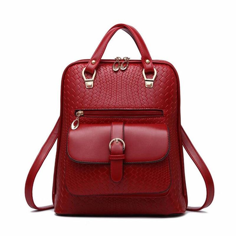 ФОТО 2016 Women Backpacks PU Leather Belt Design School College Travel School Bag Rucksack Girl Gift Shoulder Bag