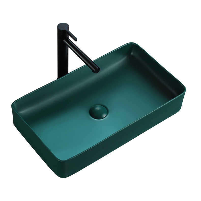Matte Green Bathroom Sink Ceramic Washbasin Basin Lavatory Color Basin Countertop Shampoo Sink With Ceramic Pop Up Drainer Bathroom Sinks Aliexpress