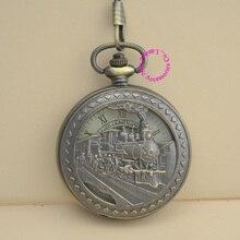 wholesale buyer train mechanical pocket watch men steampunk good quality vintage retro new antique bronze men roman dial hour