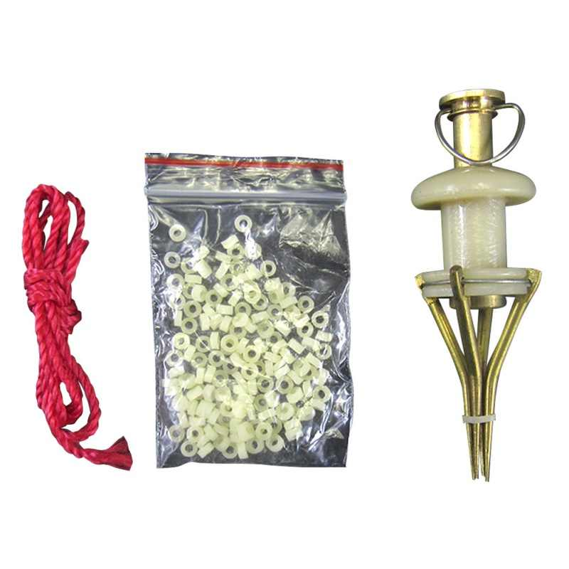 carp Fishing Copper Parts Bloodworm Lure Granule Angleworm Clip karpervissen Bander Pellet Load Tool Worm Lobworm Maggots