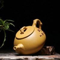 Free Shipping 280ML New Arrival Purple Clay Plum blossom Teapot Yixing Handmade Kung Fu Zisha Tea Pot Gift BOX
