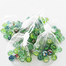 20 PCS of glass ball 14 mm cream console game pinball machine cattle small marbles pat toys parent-child beads