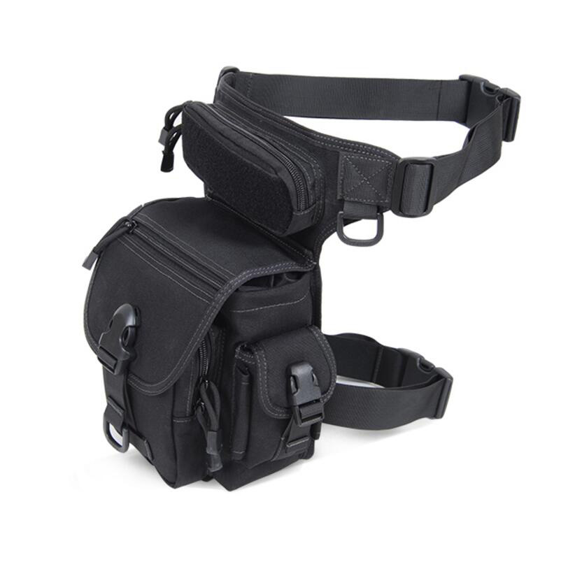 Outdoor Tactical Leg Bag Waist Pack Special Duty Weapons Tactics Sport Ride Motorcycle Waterproof Drop Utility Thigh Pouch Black adjustable quick release plastic tactical puttee thigh leg pistol holster pouch for usp45 black