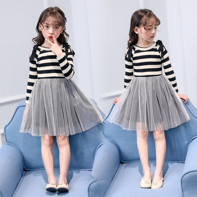 6751684eaca striped toddler sweater dresses for girls spring autumn patchwork teen  dress girl 14 years long sleeve