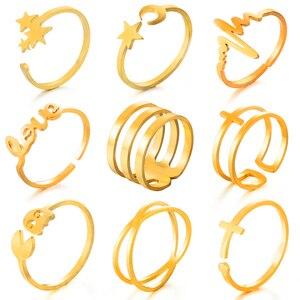 Обручальное кольцо из нержавеющей стали для женщин, вечерние кольца, новинка 2020