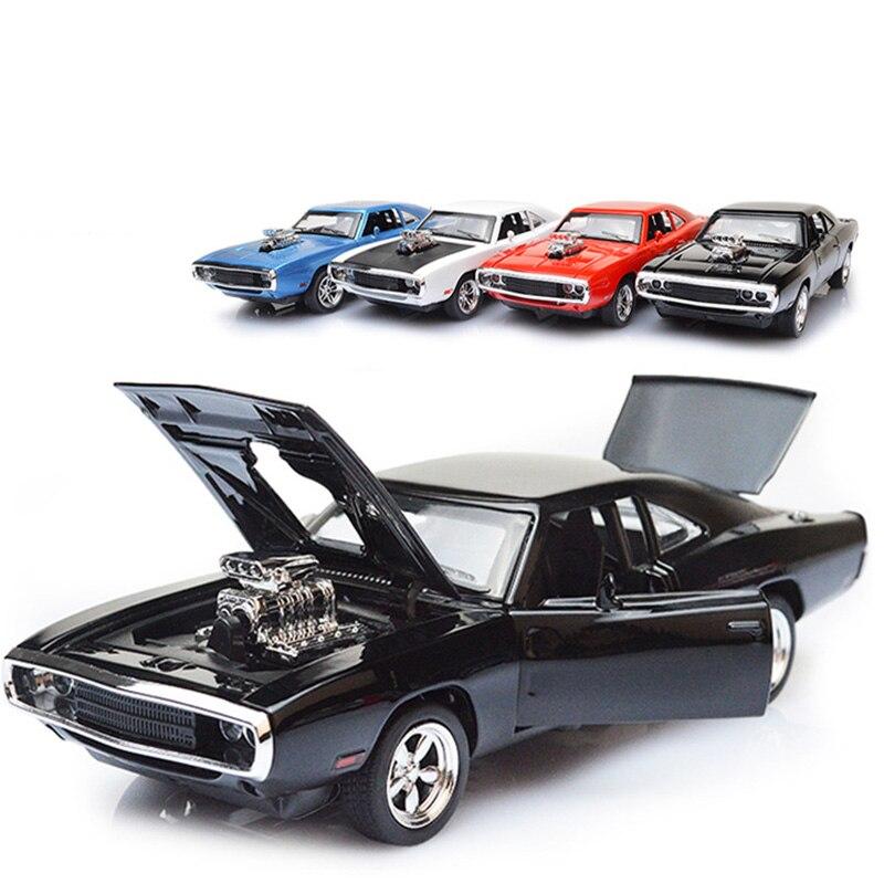 4 couleurs 1:32 modèle de voiture en alliage pour Dodge Charger rapide et furieux série jouet en métal moulage sous pression voitures Super sport voiture garçon enfant cadeau