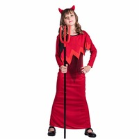 Witch Cosplay Unisex Boys Girls Scary Halloween Costume For Kids Christmas Devil Cosplay Carnival Costumes For