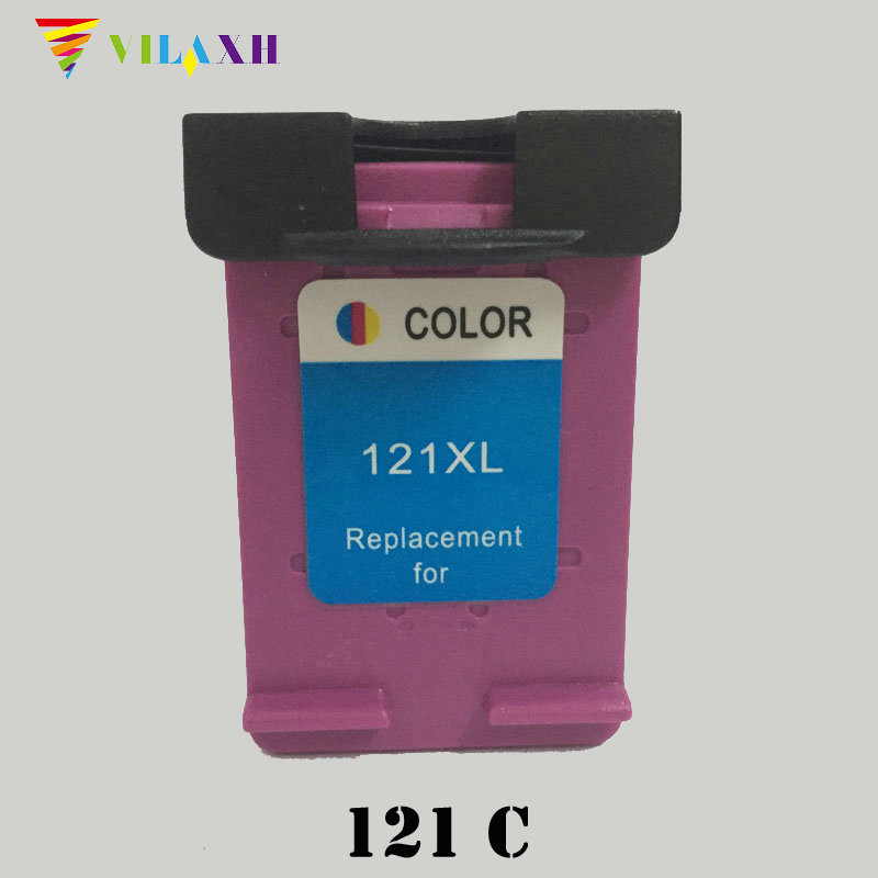 vilaxh <font><b>121</b></font> xl Compatible Color Ink Cartridge Replacement for <font><b>HP</b></font> 121xl For Deskjet 1050 2050 F2560 F5150 D2460 F2180 Printer image