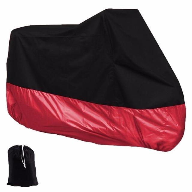 Taffeta Material Motorcycle Motorbike Waterproof Dustproof UV Protective Cover XL XXL XXXL Free Choosing Color Black & Red