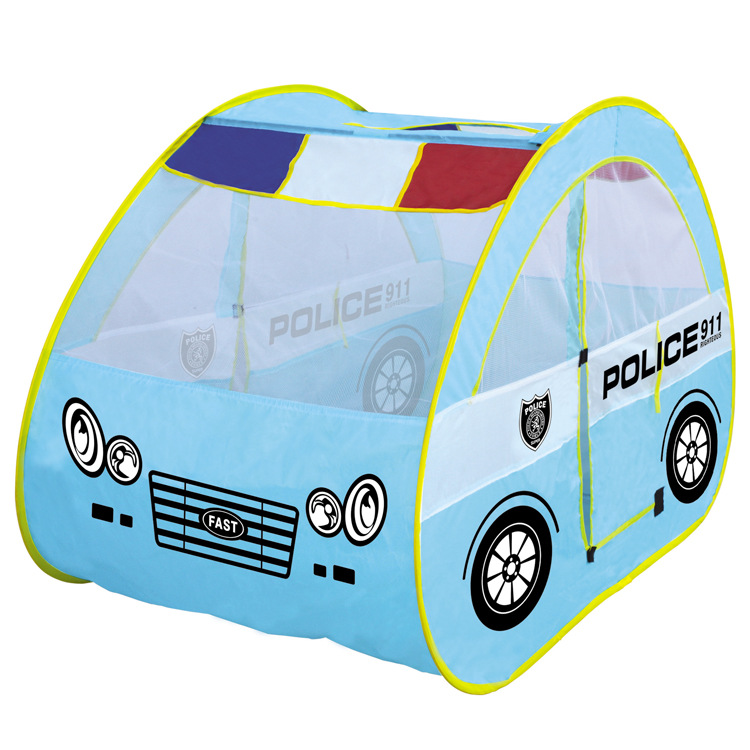 Childrens Large Games Police Playhouse Patrol Car Shape Tent House Baby Toys Cartoon Wholesale