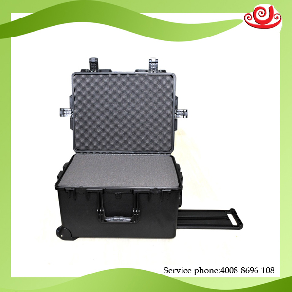 Tricases M2750 Deep Case Top Quality IP67 Waterproof Plastic  Large Rolling Hardware And Accessory Case