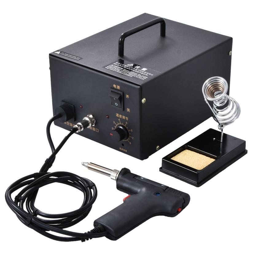 F474A pompe à dessouder Thermostat aspiration électrique étain pistolet aspiration étain pompe enlèvement automatique de l'étain 220V 120W 0.08mpa (600mm/hg)