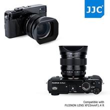 JJC 62mm Tamanho Da Rosca Quadrado Preto Camera Lens Hood Substitui Fujifilm LH-XF23 para F1.4 LENTE FUJINON XF23mm R WR