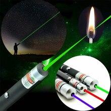 Синий, красный, зеленый, мощная лазерная ручка, луч света 5 мВт, лазерный ведущий свет, охотничий лазерный прицел, устройство для обучения, инструмент для выживания на открытом воздухе