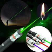 Azul vermelho verde poderoso laser caneta feixe de luz 5 mw laser apresentador luz caça dispositivo visão laser ensino ferramenta sobrevivência ao ar livre