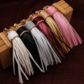 Classic PU Leather Tassel Key Chain Metal Keyring Women Handbag Accessory Car Fashion Jewelry Gift 2016