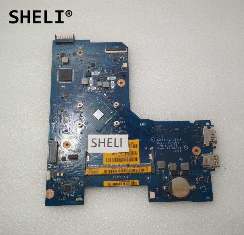 SHELI For DELL 15 5000 Series 5552 Motherboard with N3050 cpu LA-C571P sheli for hp 15 15 f motherboard with n3050 cpu 828168 001 828168 601