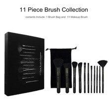 11Pcs Beauty Makeup Brushes Set Cosmetic Foundation Powder Blush Eye Shadow Lip Blend Make Up Brush Tool Kit недорого
