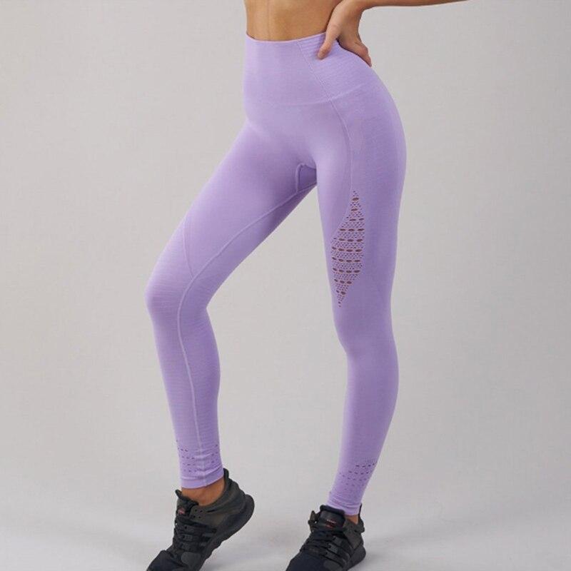 b639709e22ef90 Women Hollow Leggings Push Up Fitness Leggings High Waist Workout Legging  For Women Casual Jeggings Seamless 4Color-in Leggings from Women's Clothing  on ...
