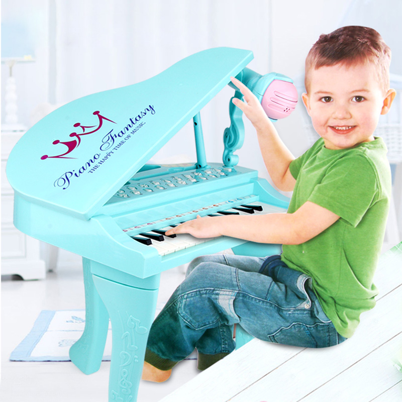 25 touches enfants clavier électronique Electone jouet électronique Piano orgue Instrument de musique Microphone jouet éducatif enfants fille - 2