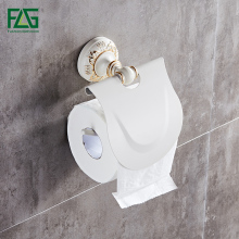FLG Space aluminum Bathroom Toilet Paper Holder Roll Accessories White Finish