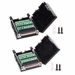 DB25 D-SUB женский клеммный порт пластиковая крышка кабель для передачи данных гайка разъем