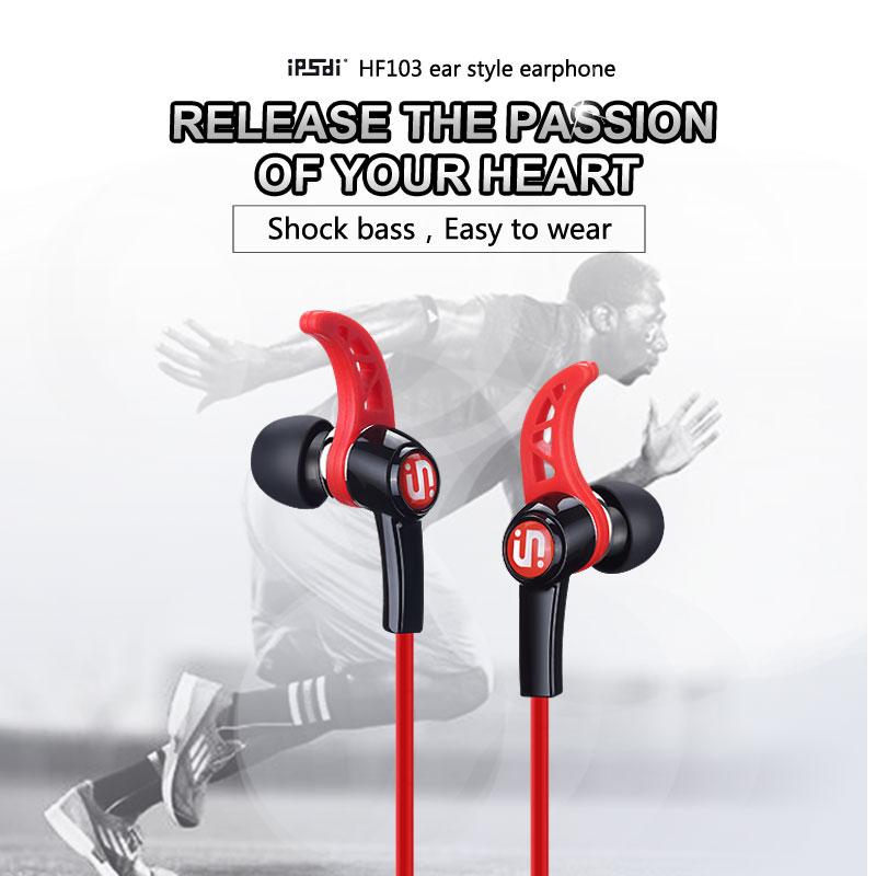 Ipsdi HF103 esportes in-ear execução heavy bass ear-style - Áudio e vídeo portáteis