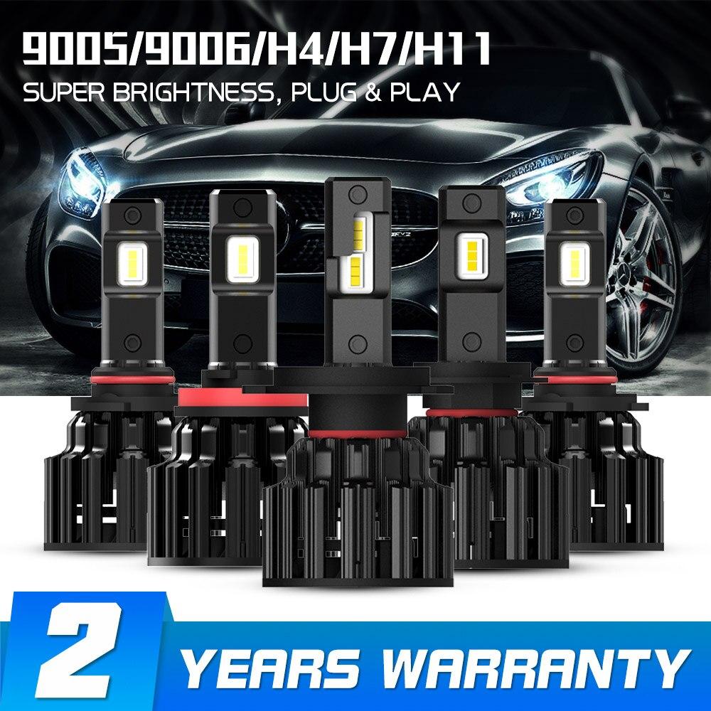 NOVSIGHT H4 LED H7 H11 H8 HB4 HB3 Voiture Phares Ampoules 100W 20000LM Voiture Style 6000K LED automotivo
