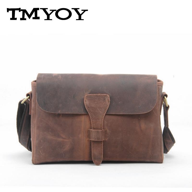 ФОТО TMYOY 2017 New 100% Genuine Cow Leather Women Handbags Casual Crossbody Bags Occident Brand Vintage Women Messenger Bags DB4471