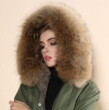 wholesale cheap price real rabbit fur parka,grey brown big collar real rabbit liner army green women fur coat