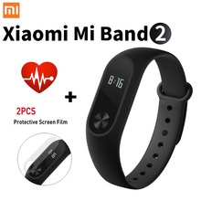 Promotion! Original Xiaomi Mi Band 2 Miband Band2 Wristband Bracelet with Smart Heart Rate Fitness Tracker Touchpad OLED Strap