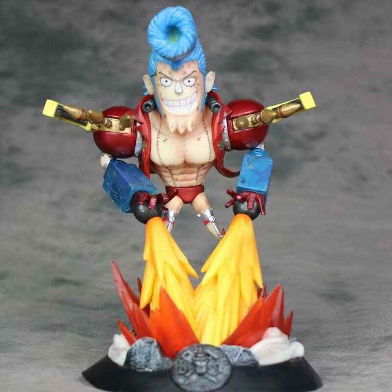 21.5 CENTÍMETROS One Piece Franky GK H631 Bonecas Brinquedos Estatueta PVC Action Figure Toy Model Collection