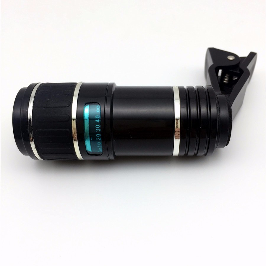 Newest Mobile Phone Camera Lens Kits Fisheye lense Wide Angle Macro Lens 12X Zoom Camera Telephoto Lens For iPhone Samsung LG 13