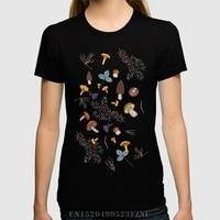 Spring Summer Panic Buying T Shirt Women Dark Wild Forest Mushrooms Short Sleeves Novelty Cotton Palace