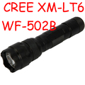 Free Mail WF-502B Flashlight CREE XM-L T6  5 Modes  1000 lm LED Flashlight 18650 Torch Outdoor Light
