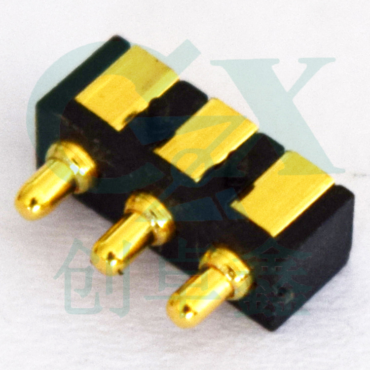 2.0mm male 3pin pitch is with 2.54mm spring loaded gold plating pogo pin connector