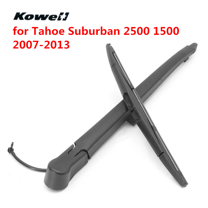 KOWELL Rear Windshield Wiper Blades Refill Brushes for Car Janitors for Chevrolet <font><b>Tahoe</b></font> Suburban 2500 1500 07-13 Back Washer image