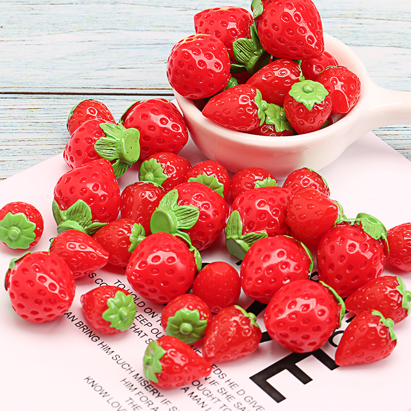 Happy Monkey Slime Supplies Toys New Fruit Strawberry Charms Addition Accessories DIY Decor For Fluffy Clear Crystal Slime Gift