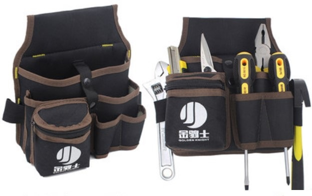 CAMMITEVER 24*21cm Wrench Screwdriver Organization Bag Hardware Mechanics Tool Utility Pocket Pouch With Belt