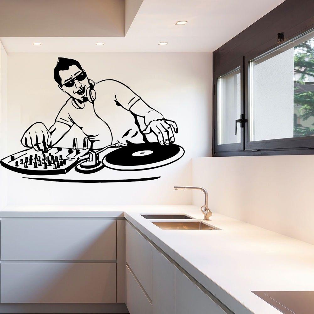 Vinyl Wall Decal Sticker Room Music DJ Electronic Dance Trance EDM Cool