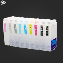 high capacity 80ML 9pcs for Epson surecolor P600 refillable cartridges with auto reset chips T7601